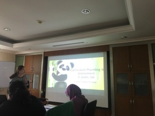 Wong Shin Ying is presenting her Little Panda House curriculum